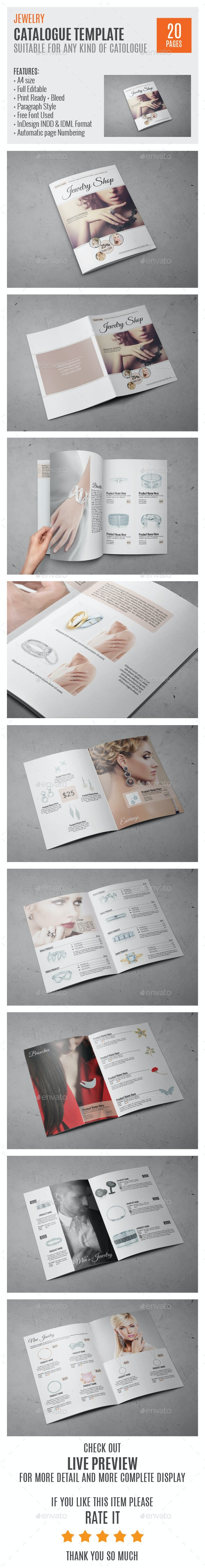 Jewelry A4 InDesign Catalog Template HP0011 - Catalogs Brochures