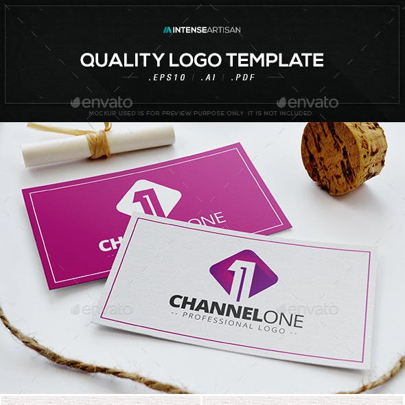 Channel One V.3 Logo Template