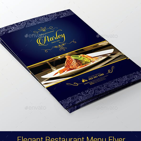 Elegant Restaurant Menu Flyer
