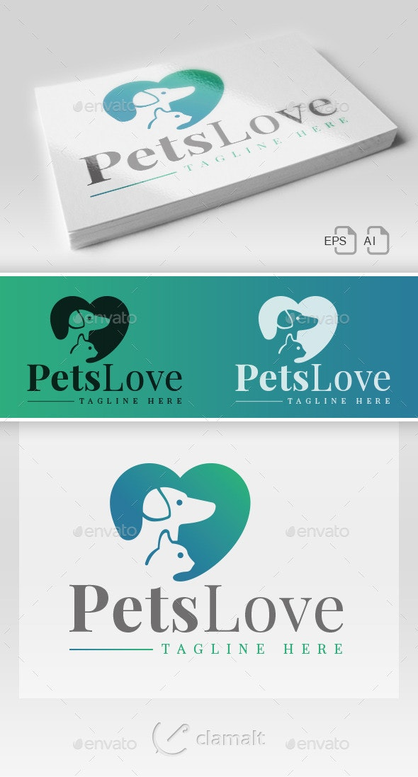 Pets Love - Logo - Animals Logo Templates