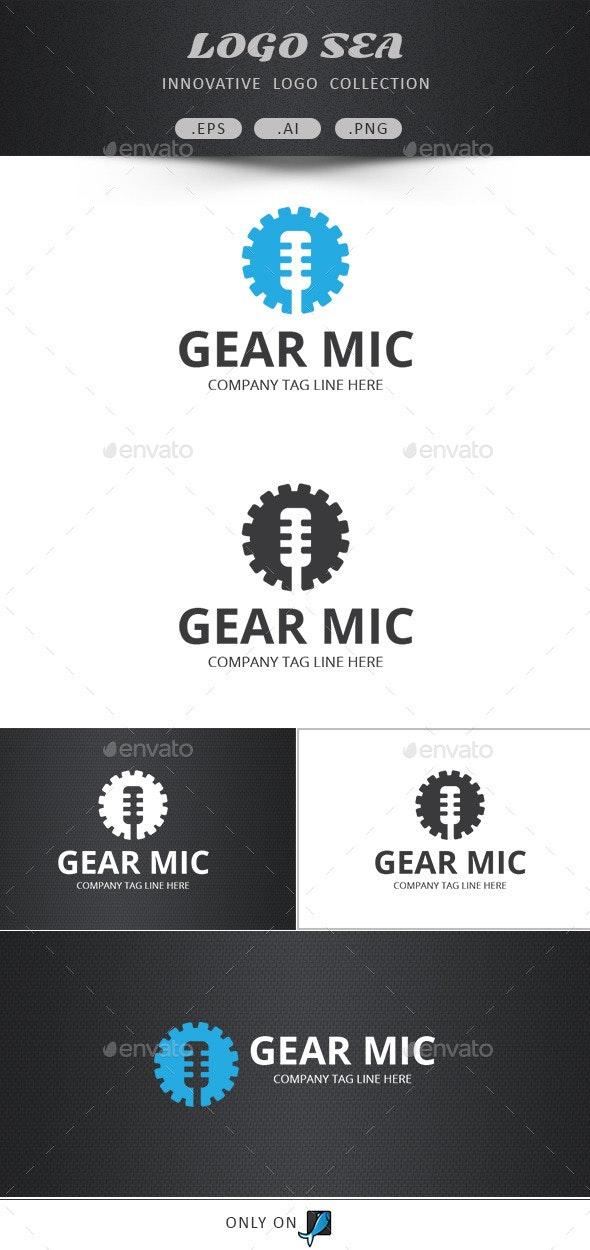 Gear Mic Vector Logo - Symbols Logo Templates