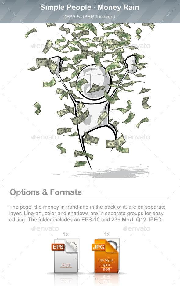 Simple People - Money Rain - People Characters