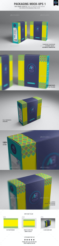 Packaging Mock-ups 1  - Packaging Product Mock-Ups