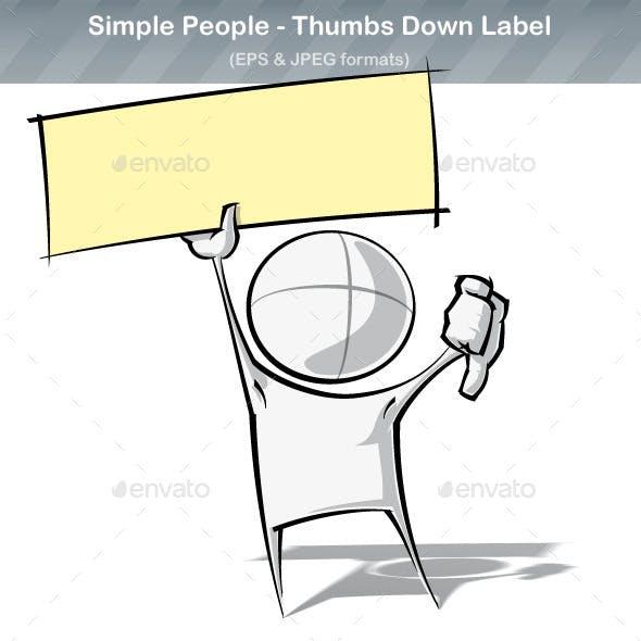 Simple People - Thumbs Down Label