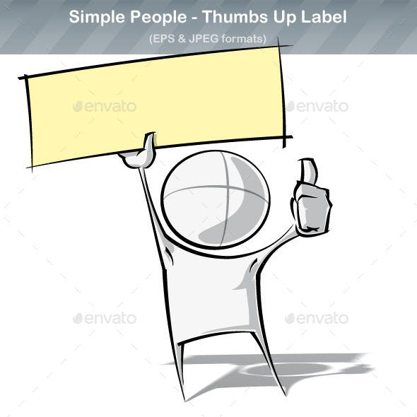 Simple People - Thumbs Up Label