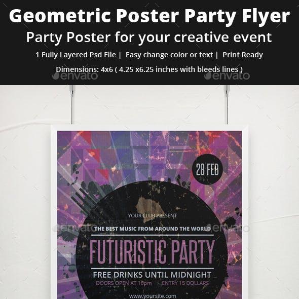Geometric Grunge Party Flyer