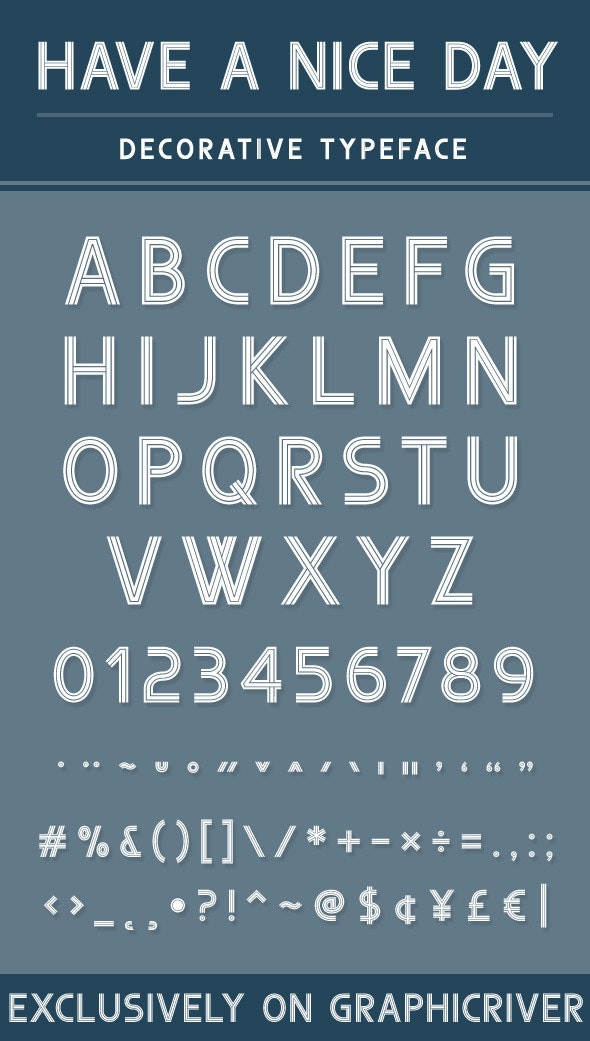 Have a nice day - Decorative Fonts