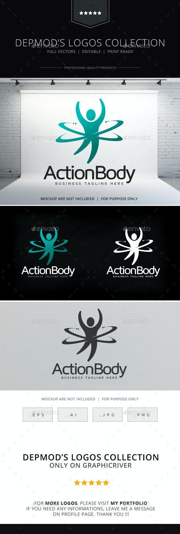 Action Body Logo - Humans Logo Templates