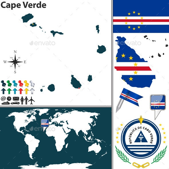 Map of Cape Verde - Travel Conceptual
