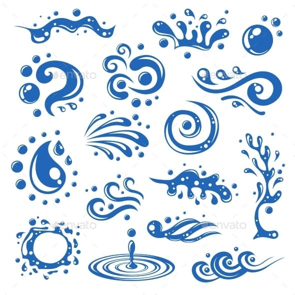 Water Splashes Icons