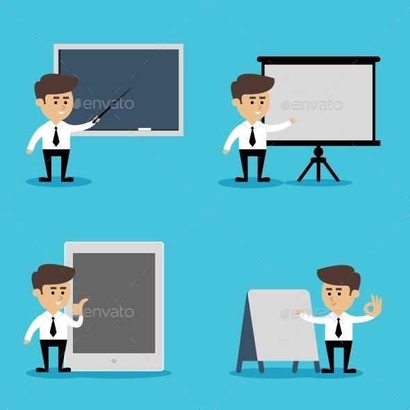 Businessman Presentation Set - People Characters