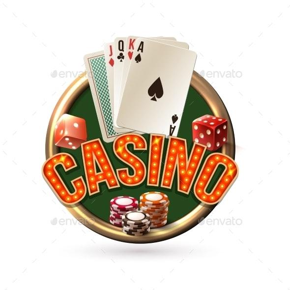Poker Casino Emblem - Sports/Activity Conceptual