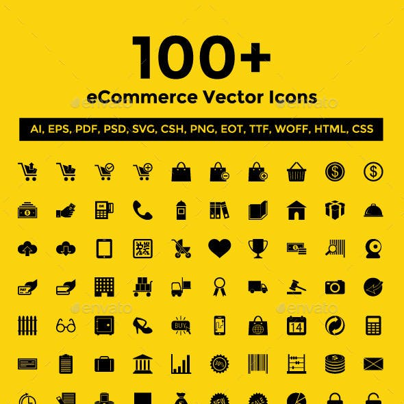100+ eCommerce Vector Icons Pack