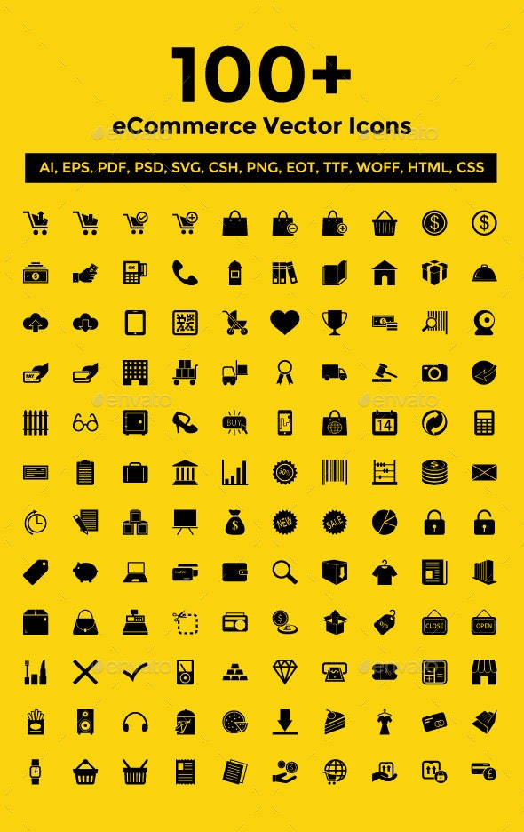 100+ eCommerce Vector Icons Pack - Web Icons