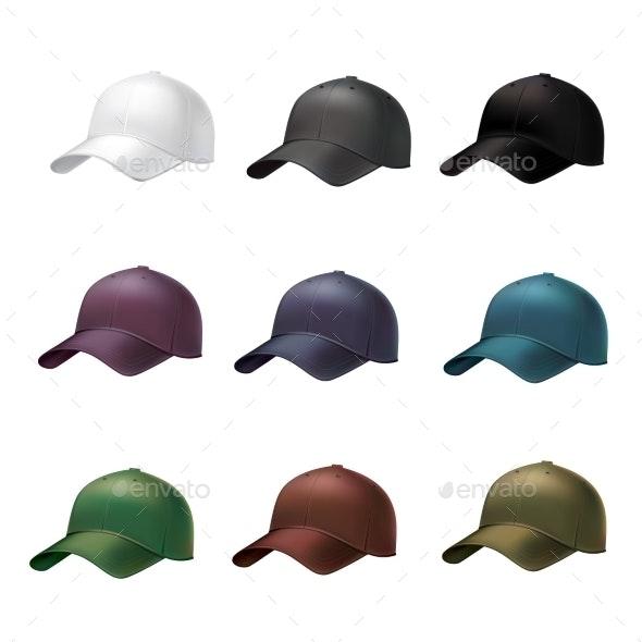 Realistic Baseball Cap - Objects Vectors