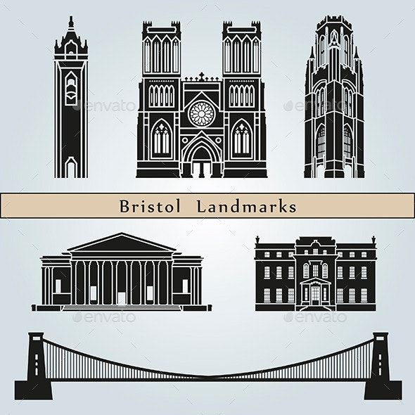 Bristol Landmarks and Monuments - Buildings Objects