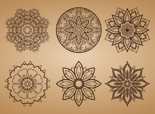 Flower Round Pattern - Decorative Symbols Decorative