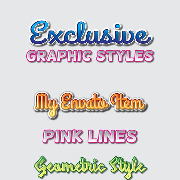 Exclusive Graphic Styles for Ai