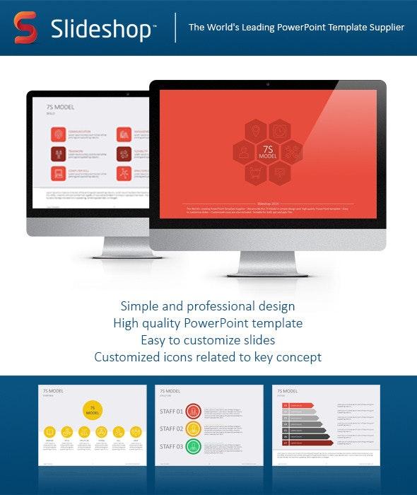7S Model Flat - Creative PowerPoint Templates