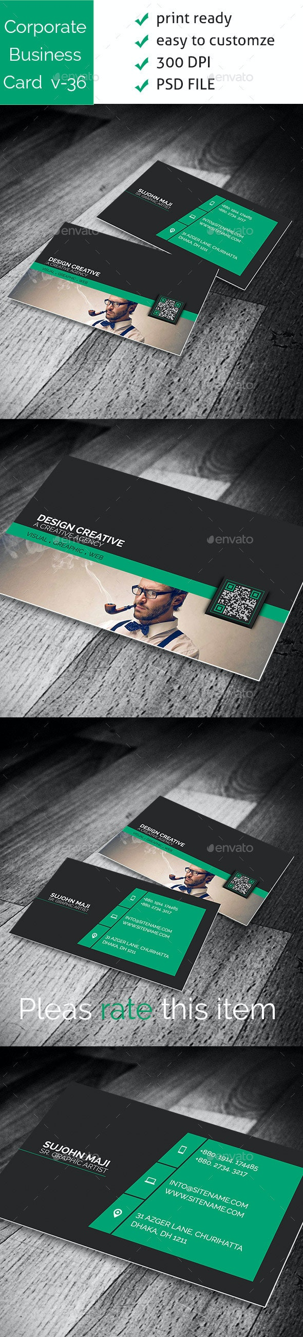 Corporate Business Card VO-36 - Corporate Business Cards