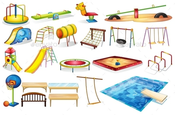 Playground Equipments - Miscellaneous Vectors