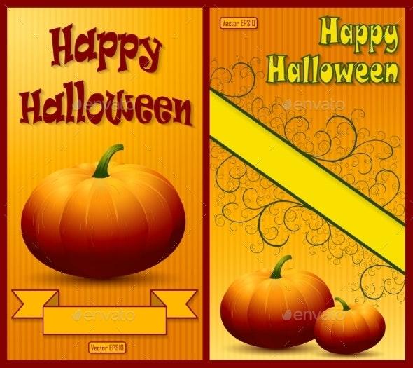 Set of Happy Halloween Backgrounds. - Halloween Seasons/Holidays