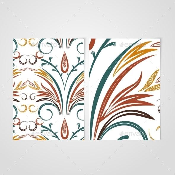 Vector Elegant Background with Lace Ornament . - Web Elements Vectors