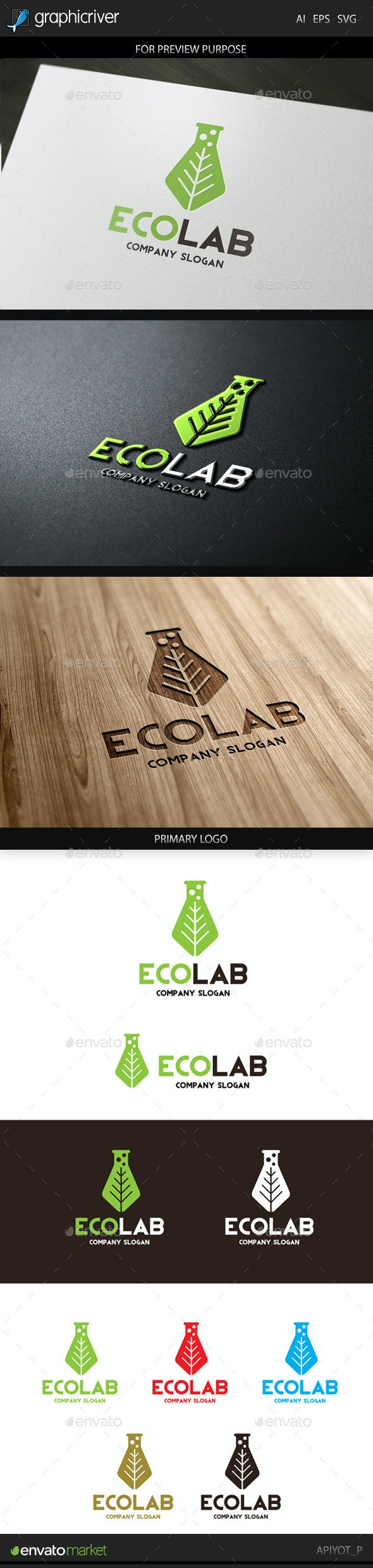 Eco Lab Logo - Abstract Logo Templates