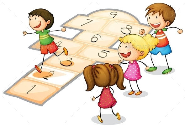 Kids Playing  - People Characters
