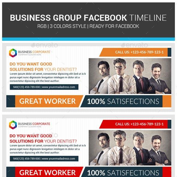 Corporate Business Facebook Timeline Psd