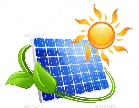 Solar energy eco concept - Technology Conceptual