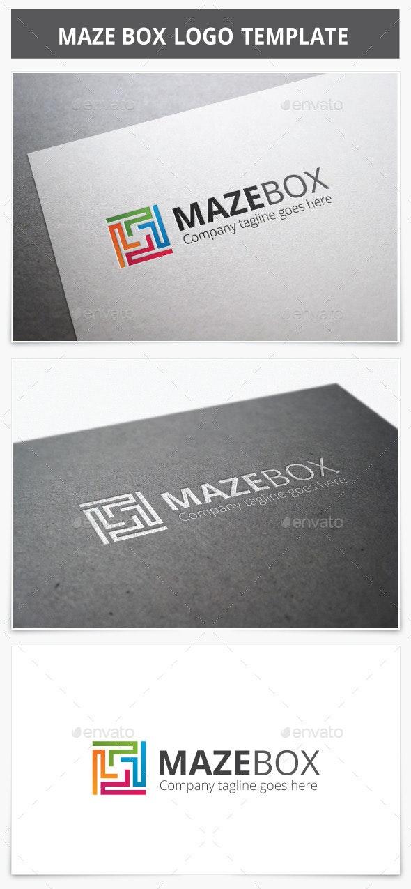 Maze Box Logo - Vector Abstract