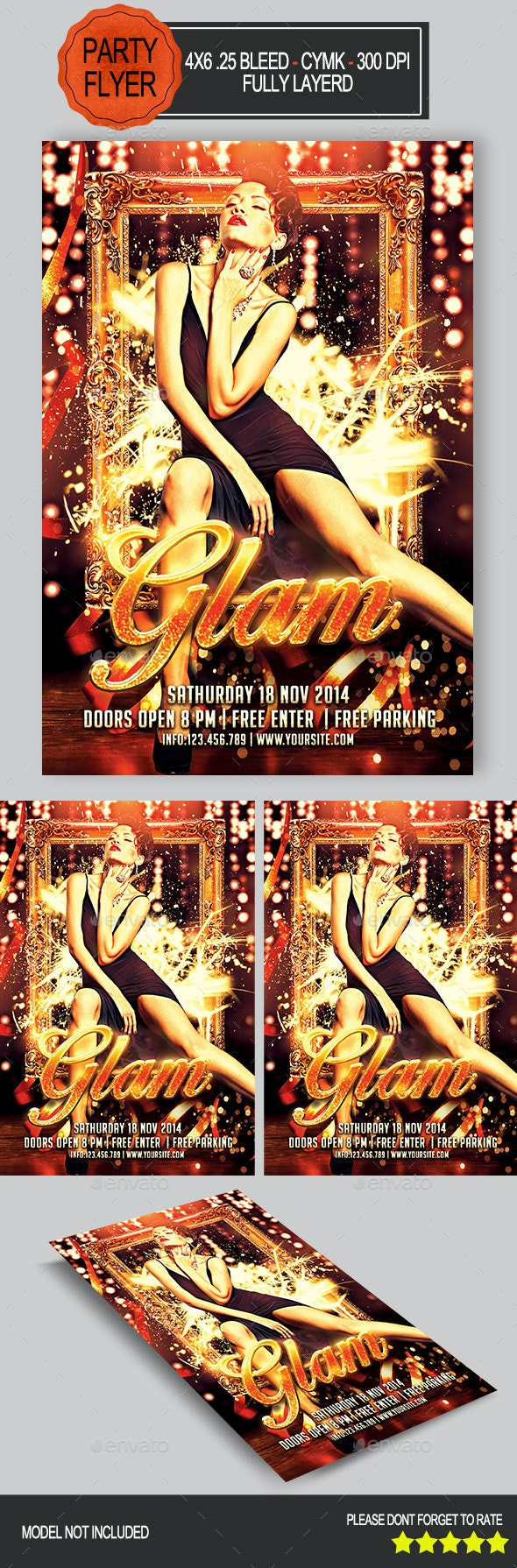 Glam Party Flyer   - Clubs & Parties Events