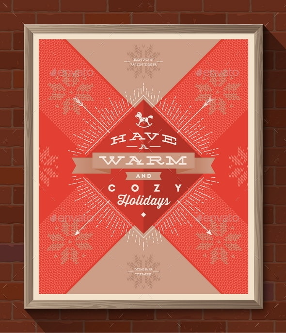 Winter Holidays Greeting Poster - Christmas Seasons/Holidays