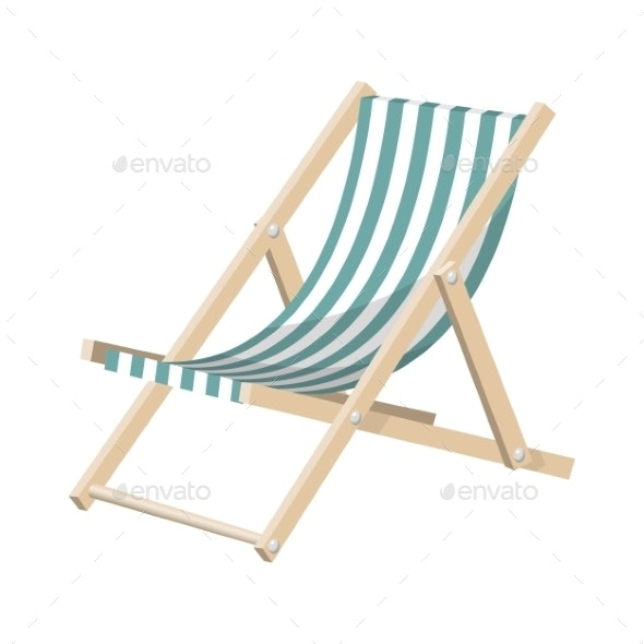 Striped Sunchair - Travel Conceptual