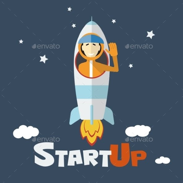 Vector Concept of Start Up New Business