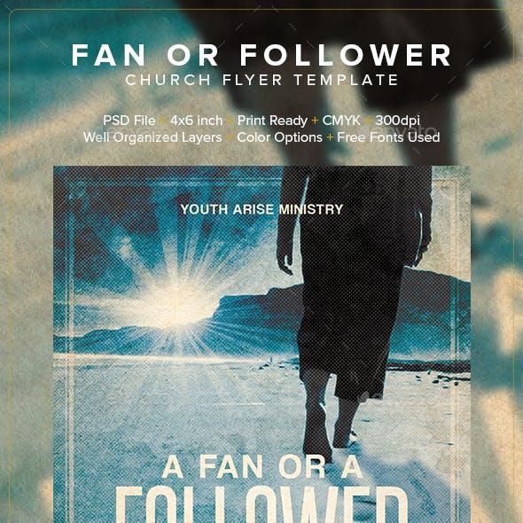 Fan or Follower Church Flyer Template