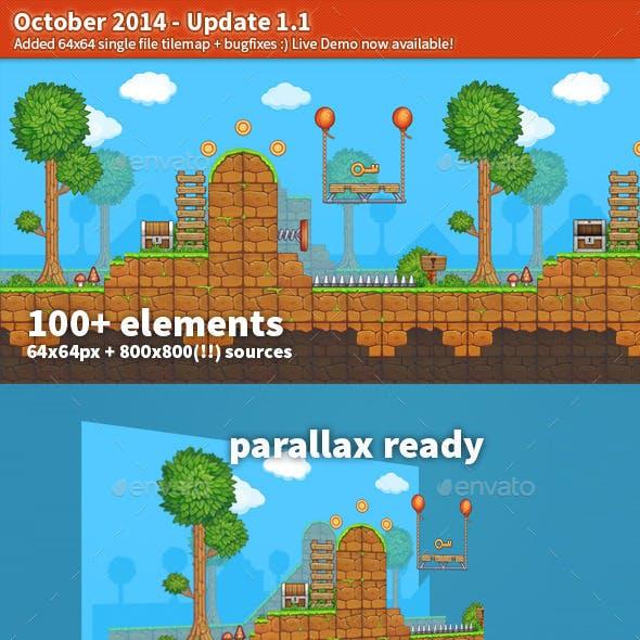 Painterly Platformer Pack - Update 1.1