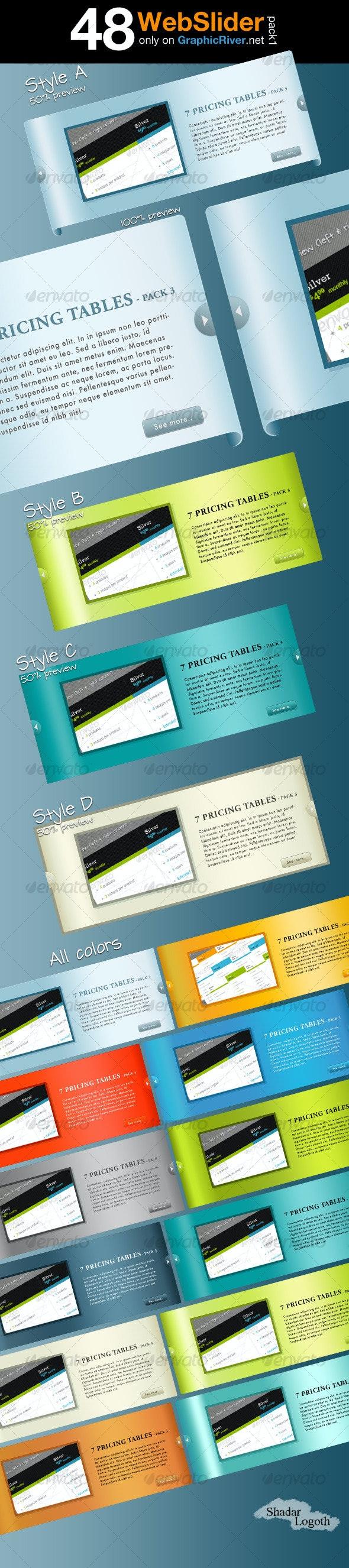 48 Web Slider - Pack 1 - Web Elements