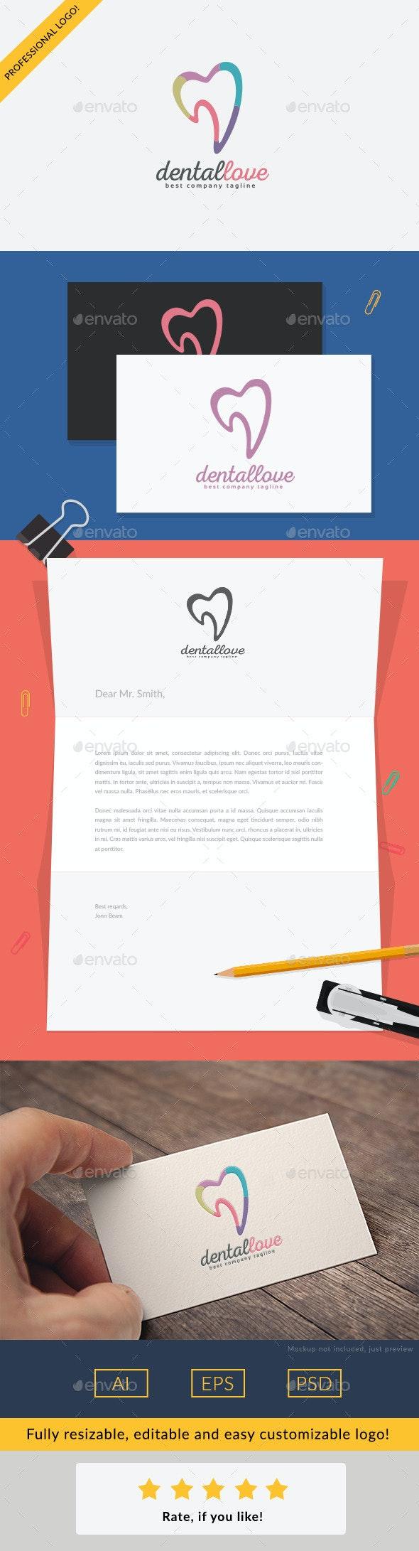 Dental Love - Objects Logo Templates