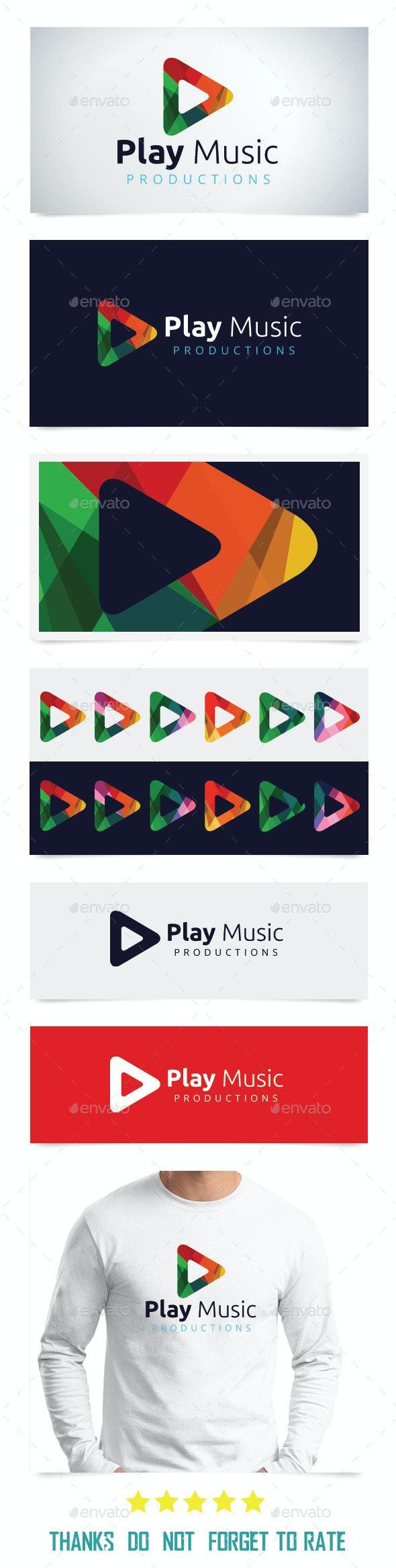 Play Music Logo Templates - Abstract Logo Templates