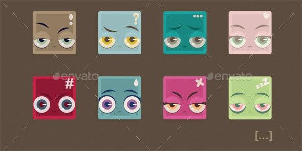 Squared Emotions - Miscellaneous Vectors