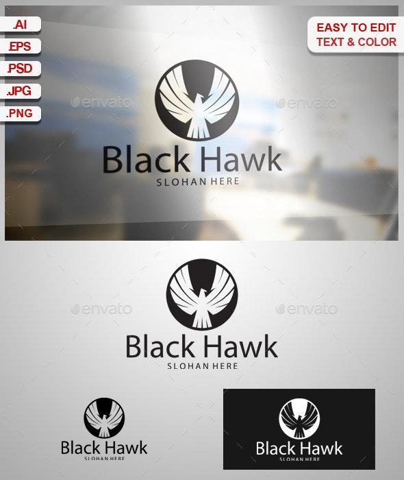 Black Hawk - Animals Logo Templates