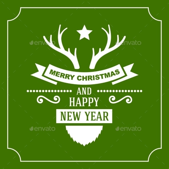 Greeting Christmas and New Year Card - Christmas Seasons/Holidays