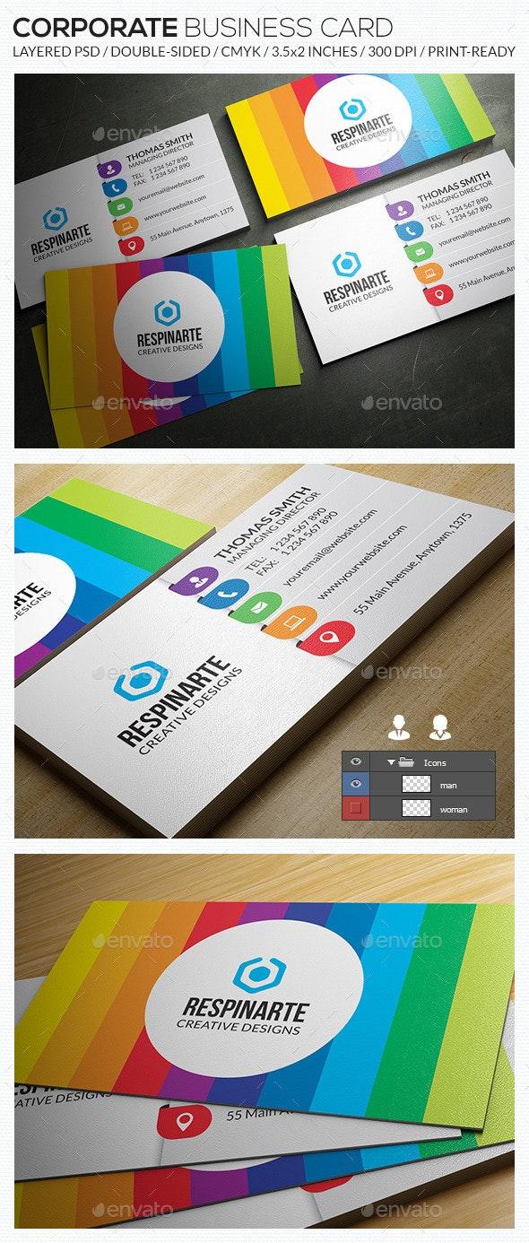 Corporate Business Card - RA63 - Corporate Business Cards