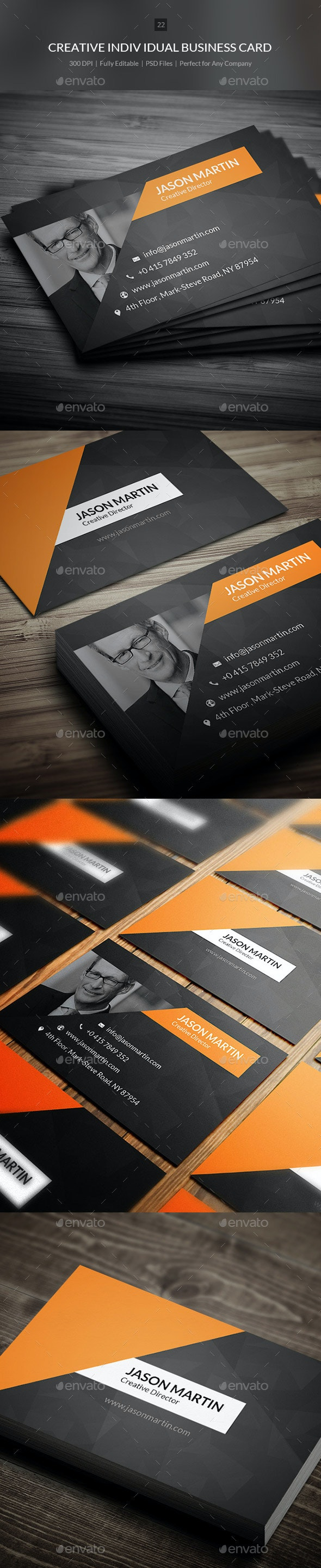Creative Individual Business Card - 22 - Creative Business Cards