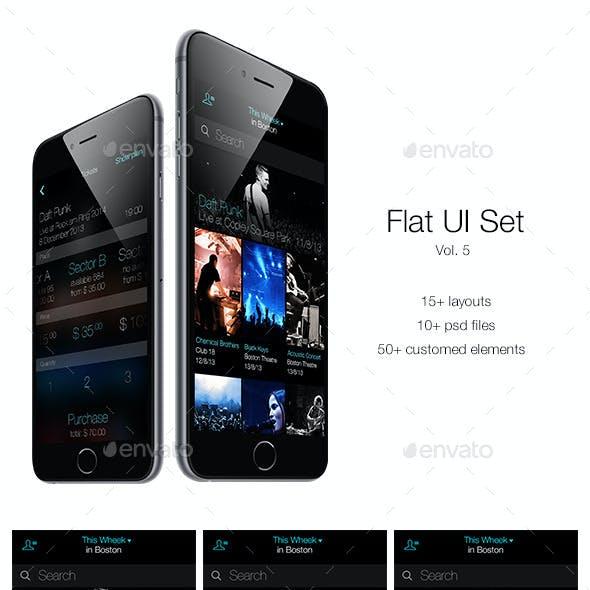 Flat UI Set Vol. 5