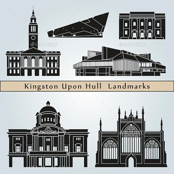 Kingston Upon Hull Landmarks and Monuments - Buildings Objects