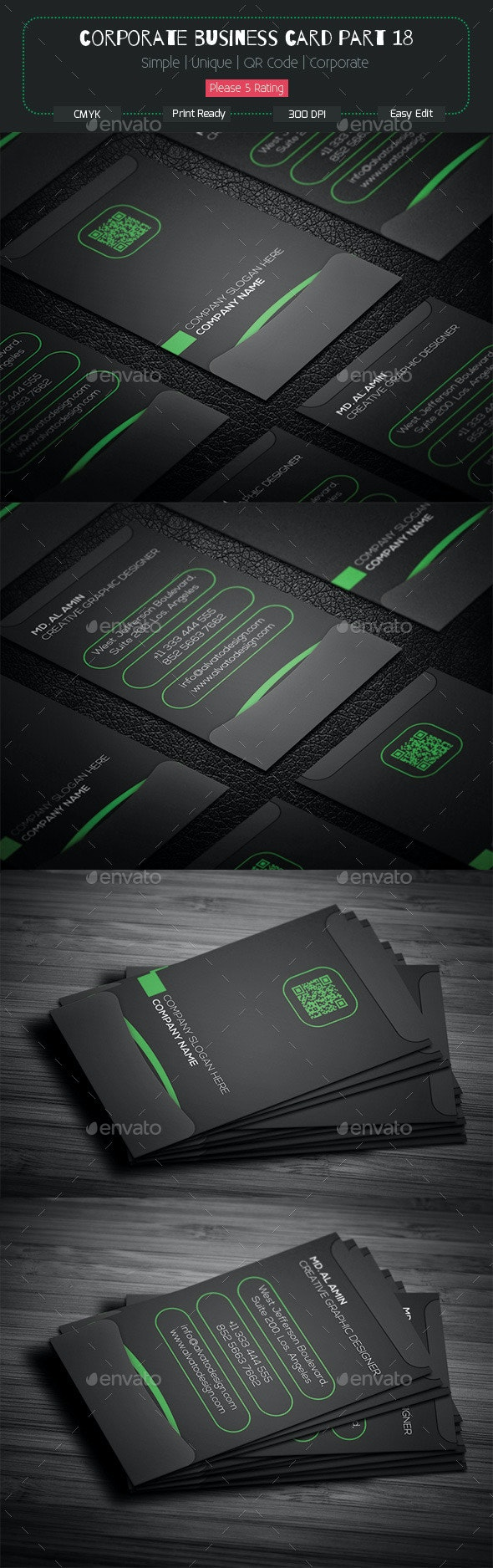 Corporate Business Card Part 18 - Corporate Business Cards