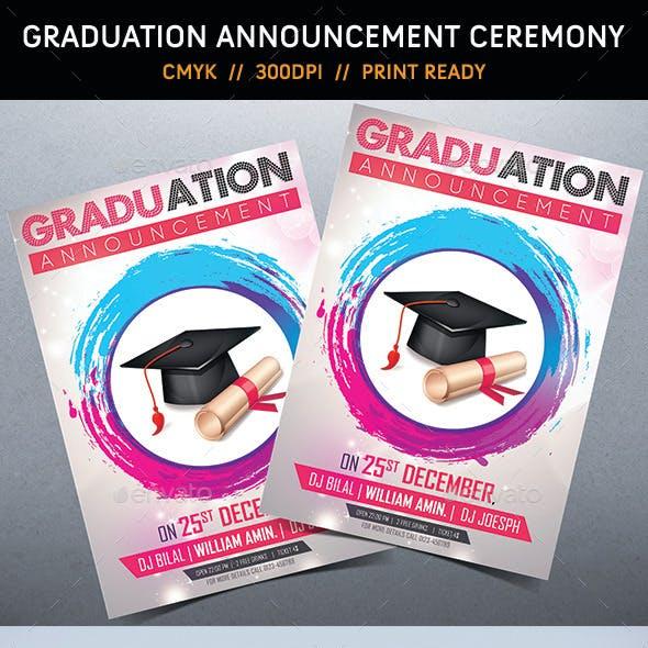 Graduation Announcement Ceremony